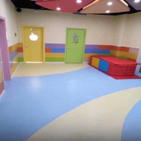 幼儿园塑胶地板 幼儿园卡通地板 PVC地胶厂家