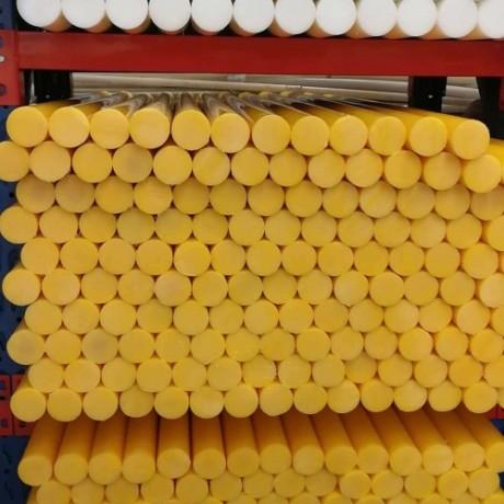 桔黄UHMWPE高分子聚乙烯棒直径110毫米 一米长一支价格
