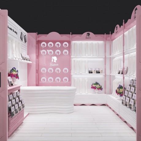 义乌美甲店展柜陈列柜价格表 童装童鞋展示柜装修效果图