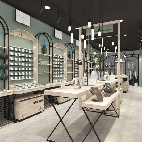 北京公仔布娃娃陈列柜工厂直销 童装童鞋展示柜装修效果图