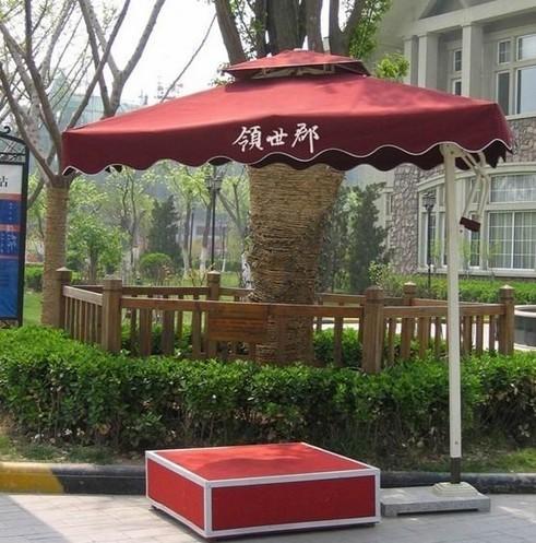 武汉小区保安伞 岗亭遮阳伞 保安遮阳伞 物业岗亭伞