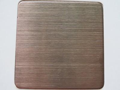 玫瑰金拉丝板 不锈钢拉丝真空电镀 钛金 黑钛 玫瑰金