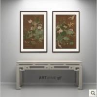 上海高端艺术品装饰画设计公司 国画水禽图