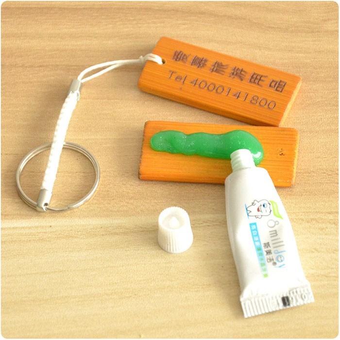 酒店用品一次性牙具批发 宾馆客房牙刷牙膏二合一套装