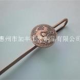 中国元素书签,门神青龙书签,长杆子书签,红铜书签