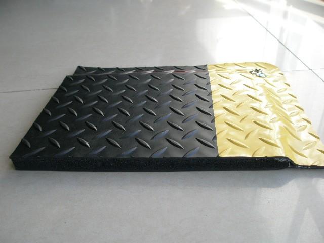 A级抗疲劳地垫 15MM黑黄防滑地胶垫 卡优防静电台垫