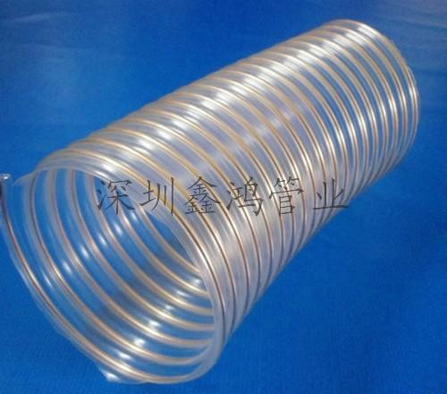 透明 钢丝/SINHON镀铜钢丝波纹管,pu耐磨钢丝软管,通风吸尘伸缩软管,带...