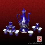 自动酒具套装厂家 定做色釉陶瓷酒具套装 色釉酒具价格