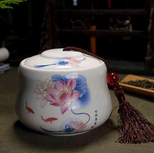 景德镇 陶瓷 茶叶/陶瓷茶叶罐是存放茶叶的容器也可用来储存干货,由于现代茶艺...