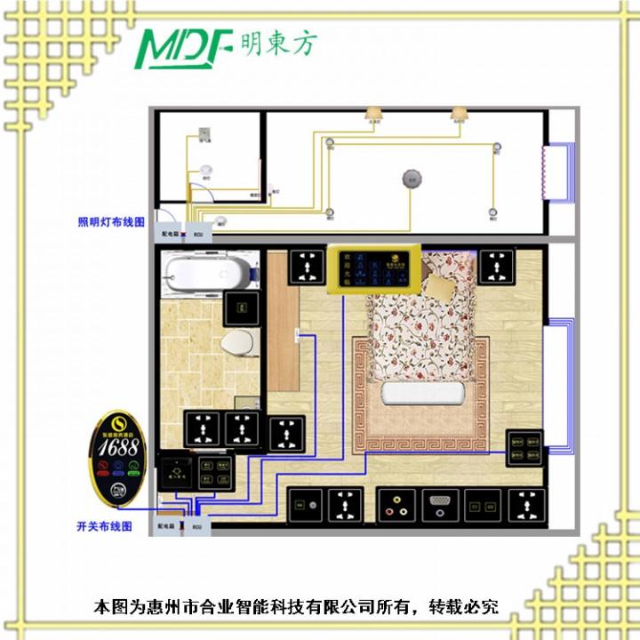 供应黄山 酒店专用RCU客控 酒店客房动态显示系统