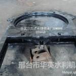 湖南污水管道镶铜铸铁圆闸门DN800华英专供