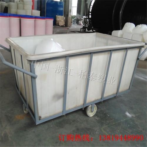 宜兴针织印染推布车 纺织厂布桶 2300L方形塑料水箱
