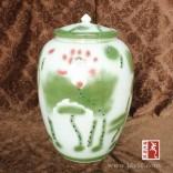 陶瓷乌金釉酒坛,手绘青花瓷酒瓶,酒瓶包装黄酒瓶