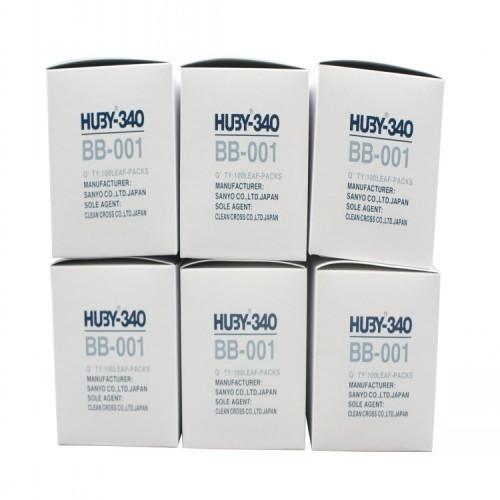 日本HUBY340 BB001圆头纸杆棉签 净化棉签