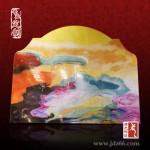 手绘瓷板画,陶瓷装饰瓷板画,人物瓷板画