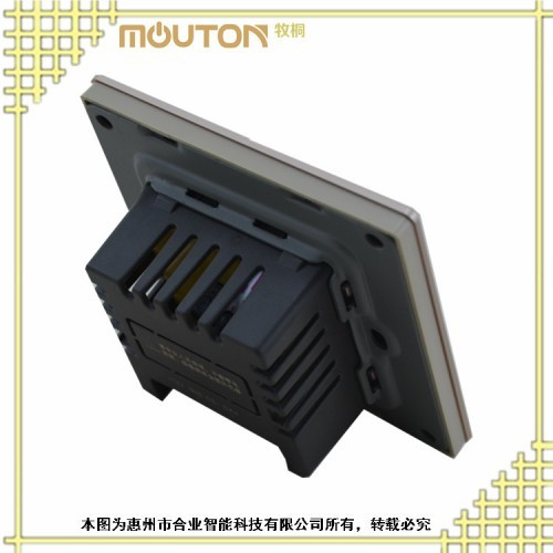 供应山东 合业 温控器 宾馆空调开关 不锈钢拉丝面板