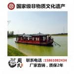 江门木船厂家供应画舫船餐饮船旅游观光船价格优惠
