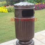 户外垃圾桶东,铸铝垃圾桶,