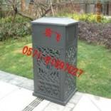 东飞户外系列家具垃圾桶,铸铝垃圾桶,园林垃圾桶