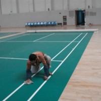 成都健身房羽毛球PVC运动地板塑胶地板荔枝纹运动地板胶
