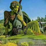 四川成都植物仿真绿雕雕塑工厂生产批发出售绿色仿真雕塑造型