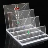 深圳水晶珠宝展架亚克力首饰展示道具项链吊坠耳钉展架批发定做