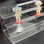 亚克力展示架定做 有机玻璃制品热弯透明化妆品展示架定制批发