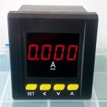 数显电流表80x80 单相直流电流表 带一路上下限报警