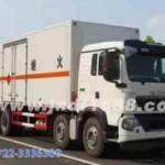 重汽豪沃易燃液体厢式运输车,甲醇,乙醇运输车