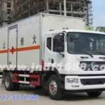东风易燃液体厢式运输车,危险品货物运输车,涂料溶液运输车