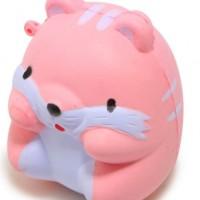 pu慢回弹仿真动物 可爱squishy仿真粉色小仓鼠