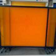 焊接防护屏风、pvc防弧光板、pvc防弧光帘、遮弧屏