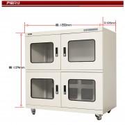 上海光盘防潮箱AK-980字画保存柜层板可调全自动控湿柜