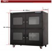 深圳LED灯珠干燥柜AKSS-980防静电超低湿防潮柜厂家