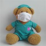 毛绒玩具公益事业医生护士泰迪熊穿衣熊戴帽护士熊广告宣传公仔