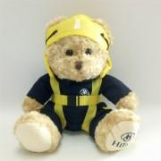 个性航空飞行员泰迪熊毛绒玩具吉祥物公仔 来图打样定制