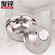 304材质无磁不锈钢双层碗焊边碗国家食品级材质隔热防烫小模特