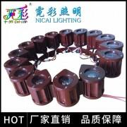 霓彩新款LED链条灯柱包灯抱箍灯