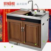 厨房集成灶集成水槽配套304不锈钢洗涤槽双槽厂家批发