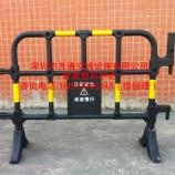 黄黑塑料护栏规格、工地施工塑料围栏厂家、深圳隔离塑料移动护栏