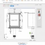 供应LCD160160- COG带铁框液晶显示屏