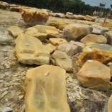 供应浙江大型景观石 平面黄蜡石 招牌石 假山石 平面石 踏步
